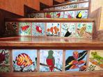 Costa Rican art and tile work throughout the home.