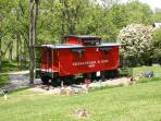 Springtime at the caboose