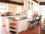 Fully Equipped Kitchen with utensils, spices and lots of electric appliances