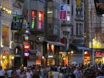 istiklal avenue: just 20 meters away