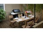 Outdoor dining deck and BBQ