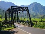 Hanalei-bridge welcomes you to the quaint town of Hanalei