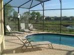Orlando Lakefront Villa Pool Deck