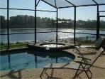 Orlando Lakefront Villa Pool +Spa (Early Morning)