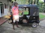 Manoj (Villa Manager) with his new Tuk Tuk