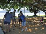 Cairns Seniors enjoying a game of boules on the Esplanade