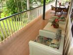 Spacious Covered Lanai with large chairs to relax and unwind.