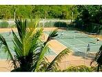 Free on-site tennis and shuffleboard