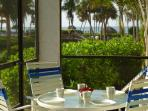Breakfast is served on the lanai.  Our favorite ritual!