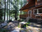 The Cabin: Wrap around porch on Oyster Bay