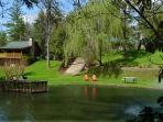 Mom's Manor and the Trout Pond