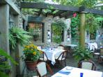 For a very special night out, dine al fresco in the courtyard at Zoubi in New Hope!