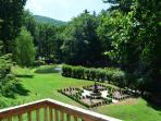 Formal Gardens from a deck