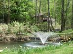Fountains all over property