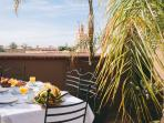 Marrakech Riad breakfast on terrace