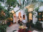 Marrakech Riad courtyard