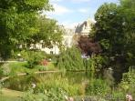 City Hall of the 3rd, a block away, enjoy the park and pond or shopping on Rue Bretagne