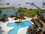 Pool, Kiddie Pool, Hot Tub, Tennis Courts, Shuffleboard and two Piers