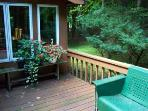 Our second porch with it's traditional rocking love seats