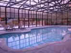 Covered Heated Pool--Swim Year Round even when snowing outside