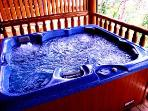 Private Hot Tub on Lower Deck