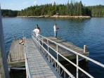 Fishing at Frazer Point - Just watch, or bring your pole! Picnic tables, fire pits, restrooms.