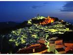 Nearby village of Casares at night
