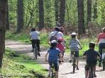 Excellent cycling and mountain biking locally