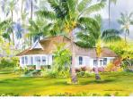 Painting of Ohana House by Guest