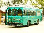 Trolly stop is right in front of our bldg. To Sarasota & Airport, Shopping & Anna Maria Island