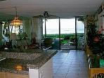 Looking out from kitchen/entry area