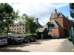Courtyard where your private parking space is right by Craigwell Cottage.