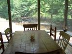 Creekside Dining on Screened Porch