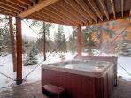 Hot tub at Keystone Prospectors Home