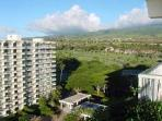 LOOKING TOWARD MOUNTAINS FROM THE LANAI