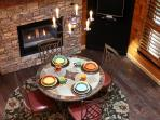 Romantic Fireside Dining