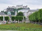 Hohensalzburg and Mirabel Gardens Salzburg