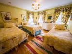 3 twin beds