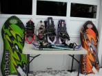 Some of the winter toys.....