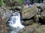 El Yunque rainforest, nearby waterfall