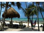 Private BeachFront  Palapas Casa Caribbean Soul