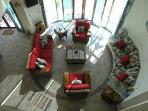 looking down on CCS living room in Tankah