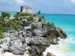 Ancient Tulum ruins minutes from Casa Caribbean Soul in Tankah