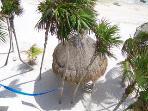 Palapa & beach at Casa Caribbean Soul