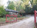 Red Gate Cottage is FENCED AND GATED and located on a no-outlet road.
