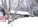 WHITE CHRISTMAS at RED GATE COTTAGE.  Gentle Slopes - All Wheel Drive is NOT Necessary.