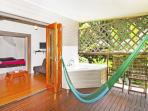 Hammock and bath