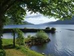 Looking up Loch Ness from the garden