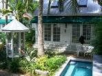 View of The Turtle House (rear) and Heated Jacuzzi