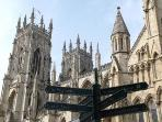 The magnificent Minster is only 4 minutes walk.